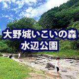 【大野城いこいの森 水辺公園】福岡で子どもと一緒にバス釣り・川遊びができる公園!