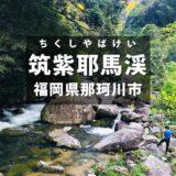 【那珂川市】福岡で川遊びができる穴場!筑紫耶馬渓(釣垂峡)南畑公園
